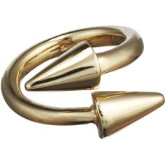 Jennifer Fisher Brass Twisted Cone Ring (€225) ❤ liked on Polyvore featuring jewelry, rings, accessories, band jewelry, polish jewelry, jennifer fisher rings, twist jewelry and cone jewelry