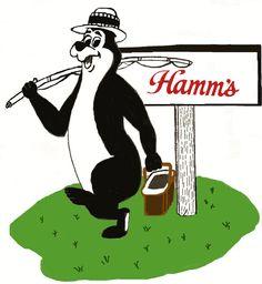HAMM'S FISHING BEAR BEER T SHIRT  SIZES SMALL THRU XXXLARGE (F)