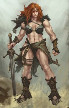 Warrior Girl, Fantasy Warrior, Fantasy Girl, Dark Fantasy, Barbarian Woman, Conan The Barbarian, Fantasy Character Design, Character Inspiration, Character Art