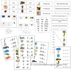 This bundle includes 16 Montessori Step 1 Language Series materials. These materials are all based on 3-letter phonetic words. Instructions on how to present this material is included.- Word and Picture Cards (42 pictures/42 words)- Word and Picture Cards - Real Pictures (42 pics/42 words)- Sheets and Labels (6 sheets/36 labels)- Sheets and Labels - Real Pictures (6 sheets/36 labels)- Word and Picture Match (8 pages: 9 pics/words per page)- Word Lists (12 lists)- Initial Sound Choice Cards…