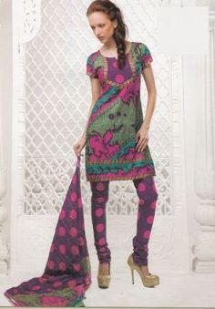 Gorgeous Multi Color Dress Material Printed Lawn Cotton Unstitched Salwar Kameez Suit D.no 4012 love the top