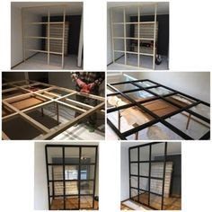 Have inspiration from Äntligen He # Finally # DIY glass wall DIY glass wall! Have inspiration from Äntligen He # Finally # DIY glass wall Ikea Room Divider, Room Dividers, Room Divider Ideas Bedroom, Glass Room Divider, Bedroom Wall Designs, Diy Room Decor, Bedroom Decor, Home Decor, Ikea Bedroom
