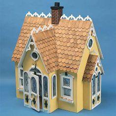 Dollhouse Kits by Corona Concepts: The Buttercup Dollhouse Kit, Wooden Dollhouse