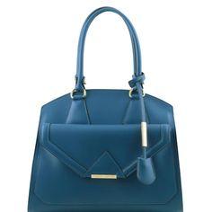 Tuscany Leather VESTA Ruga leather shoulder bag with front pocket - Nuptials…