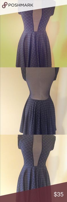 Weekend Sale!!   Teen girl one hour Sale Beautiful skater plaid  dress with sheer  V neck and sheer low back. Perfect for teenage girls. Dresses Formal
