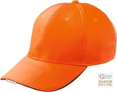 CAPPELLINO IN POLIESTERE C VISIERA CON LUCI A LED  COLORE ARANCIONE http://www.decariashop.it/cappellini/3091-cappellino-in-poliestere-c-visiera-con-luci-a-led-colore-arancione.html