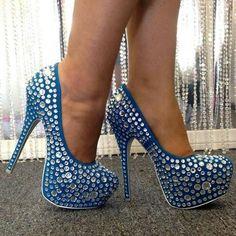 Love blue sparkle