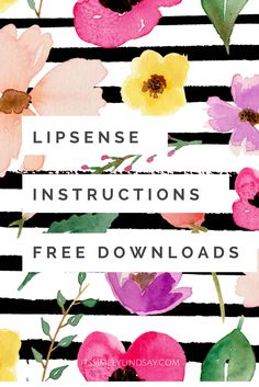Check out these adorable Lipsense instructions and tips and tricks cards from It's Simply Lindsay, available in 8x10 and 4x6 free download.