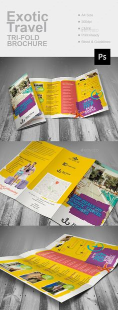 15 Travel Brochure Examples With Enticing Designs Bright colours - travel brochure templates