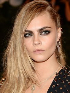 Met Ball Top 10: Cara Delevingne http://beautyeditor.ca/2013/05/09/10-celebs-who-pulled-off-the-met-balls-punk-theme-and-brought-us-some-fresh-new-beauty-inspiration/