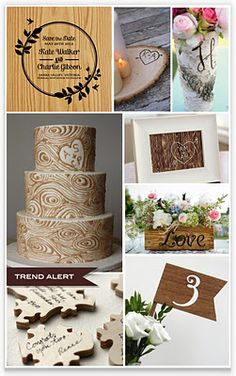 Woodgrain Wedding trend