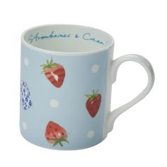 Mug - 'Strawberries and Cream' (Blue) from Sophie Allport