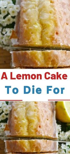 I love using lemon in desserts and cakes. It's has a unique flavor. This lemon cake is amazing! You'll Need (for the cake): 1 box of yellow cake mix. 1 small box of Easy Cheesecake Recipes, Cake Mix Recipes, Pound Cake Recipes, Simple Pound Cake Recipe, Simple Dessert Recipes, Best Lemon Cake Recipe, Unique Recipes, Lemon Desserts, Lemon Recipes