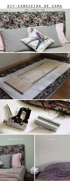 Home Furniture Bedroom Diy Headboards Ideas Small Room Bedroom, Room Decor Bedroom, Bedroom Furniture, Home Furniture, Diy Bedroom, Creative Headboards Diy, Diy Headboards, Diy Interior, Interior Design Living Room