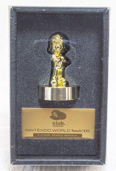 Club Nintendo Platinum Member Limited Gold Super Mario Bro. Figure JAPAN NES