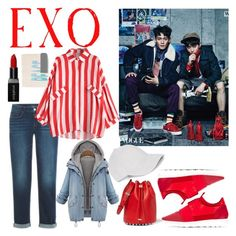 """Exo vogue"" by lauralydix on Polyvore featuring Balenciaga, Smashbox, Bobbi Brown Cosmetics, Le Amonie and Alexander Wang"