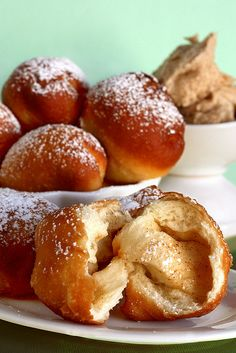 Monkey Balls - fried dough with a buttery filling