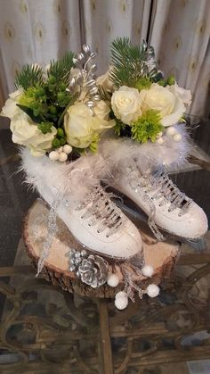 ~ Ice Skate Winter Centrepiece....maybe when I come to terms with the fact that I'll never skate again ?