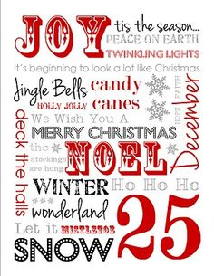 Free Christmas Subway Art Printable,   available in 5 colors! (plus links to other great printables) (scheduled via http://www.tailwindapp.com?utm_source=pinterest&utm_medium=twpin&utm_content=post257569&utm_campaign=scheduler_attribution)