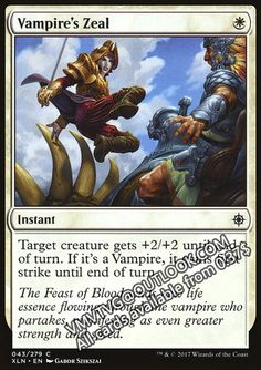Vampire's Zeal.full MTG Proxy Magic the Gathering ixalan XLN available