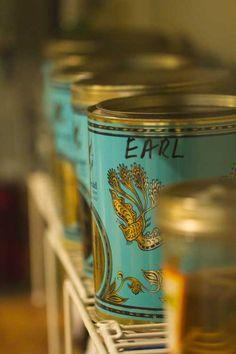 Earl Grey Tin Tea Box-- Use tea tins for storing snacks and baking goods! Mint Gold, Teal And Gold, Cuppa Tea, Tea Tins, Tea Box, Tea Caddy, My Cup Of Tea, Tin Boxes, Charms