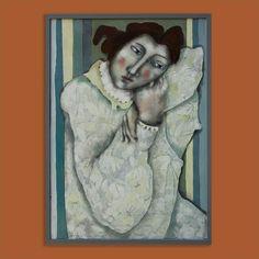 Remembering Matisse... - #dutchart #painting #acrylic #acrylicpainting #art #kunst #schilderij #portrait #matisse #saatchi #saatchiart