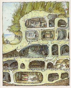 """Un articolo di Lilia    JILL BARKLEM             """"C'è un bel posto dall'altra parte del ruscello, fra i campi. Se riuscite ad arrivarci e os..."""