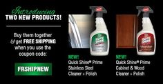 Introducing Quick Shine® for STAINLESS STEEL and CABINETS! Can you believe it? Buy yours today and get free shipping.   https://www.hollowayhouse.net/product/quick-shine-prime-stainless-steel-cleaner-polish/  #clean #kitchencabinets #quickshine #stainlesssteel #newproducts