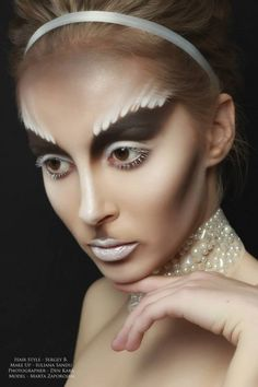 """""""Couture Bride make up look""""  ...um, ok. If dirt staches were in."""