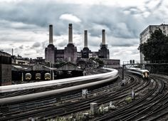 Battersea Power Station and Trains: Photographs of London