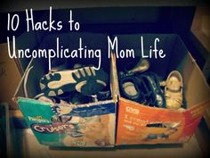 10 Hacks to Mom Life.  Seriously - Make laundry, meal planning and more easier.  (She has six kids.  She knows...)