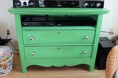 Elizabeth & Co.: Green Cottage Dresser Media Cabinet