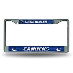 Vancouver Canucks NHL Bling Glitter Chrome License Plate Frame