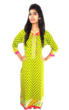 Long length printed cotton kurti. (Offer Price: Rs 499 , Offered Discount: 9%) ** BUY NOW ** [MRP: Rs 549]