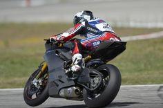 Checa testing new Ducati 1199 Panigale for 2013 WSBK