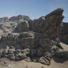 "(PBR, UE4) Modular rocks, Arseniy ""SenChi"" Smirnov on ArtStation at https://www.artstation.com/artwork/NkX3J"