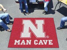 Nebraska Man Cave Tailgater Rug 5'x6'