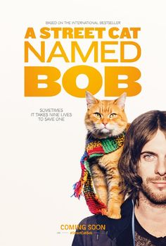 "I watched this today on netflix. It was so good! Made me tear up. They have an amazing bond. Bob is an angel! ....""James Bowen's best selling memoir, ""A Street Cat Named Bob,"" is the true story of a struggling street musician who nursed a sick cat back to health and the extraordinary relationship that developed between the two.  Watch it in theatres on November 18th"""