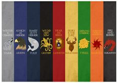Game of Thrones - House Sigils Art Print