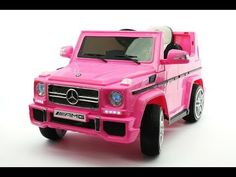Licensed Mercedes AMG Electric Kids Ride-On Car with Player, AUX Audio Input, EVA Foam Rubber Tires, Soft PU Leather Seat with 5 Point Safety Harness, Battery Power and Full Function Parental Remote by Moderno Kids Kids Ride On Toys, Toys For Girls, Car Girls, Mercedes Amg, G65 Amg, Dirt Bikes For Kids, Daimler Ag, Daimler Benz, Leather Seat Covers