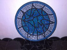 bowl with glass mosaic