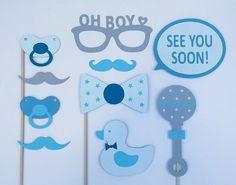 Baby Shower Boy / Boy Babyshower Props / Photo Booth Prop Set / Baby Shower Set…