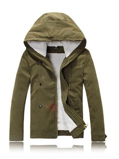 Tidebuy.com Offers High Quality Hooded Solid Color Thick Warm Zipper Men's Winter Coat, We have more styles for Men's Coats & Jackets