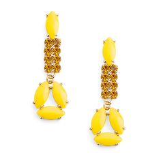 Rock Citrus Earrings - JewelMint. Dislike yellow but these earrings give any outfit a pop of color