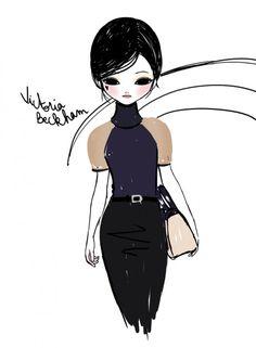 Victoria Beckham fall 2013 - illustrated by Candybird Live Fashion, Fashion Art, Fashion Design, Victoria Beckham News, Illustrations And Posters, Fashion Illustrations, Glamour, Fashion Sketches, Fashion Drawings