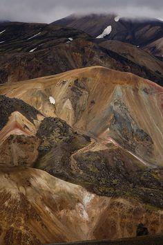 Landmannalaugar, Fjallabak Nature Reserve, Iceland. View from Mount Bláhnúkur by Larry D James on flickr