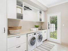 80 DIY Laundry Room Storage Shelves Ideas – Best Home Decorating Ideas - Page 17 Tiny Laundry Rooms, Laundry Room Organization, Small Laundry, Laundry In Bathroom, Laundry Nook, Basement Laundry, Laundry Closet, Mud Rooms, Küchen Design