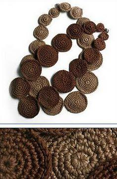 Crochet necklace. #jewelry #crochet