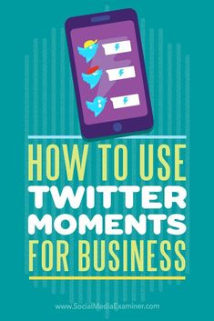 Have you heard of Twitter Moments?  Twitter Moments lets you combine groups of selected tweets, sharing your message in more detail.  In this article, youll discover how to create and use Twitter Moments for your business.Via @smexaminer.