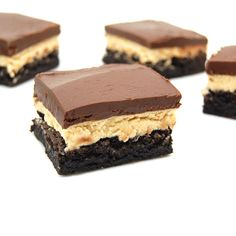 Peanut Butter Truffle Brownies...three layers of rich and decadent goodness! OMG!